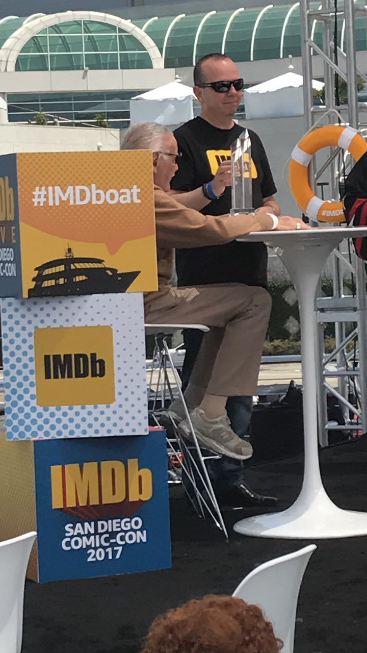 Receiving the first ever #imdb Starmeter Award on the #IMDboat https://t.co/vCZT6eN2hs