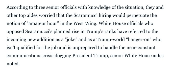 Lotta White House aides are *pissed* about this Scaramucci move. https://t.co/y0WAYMpV6z https://t.co/8YgTsAoEuI