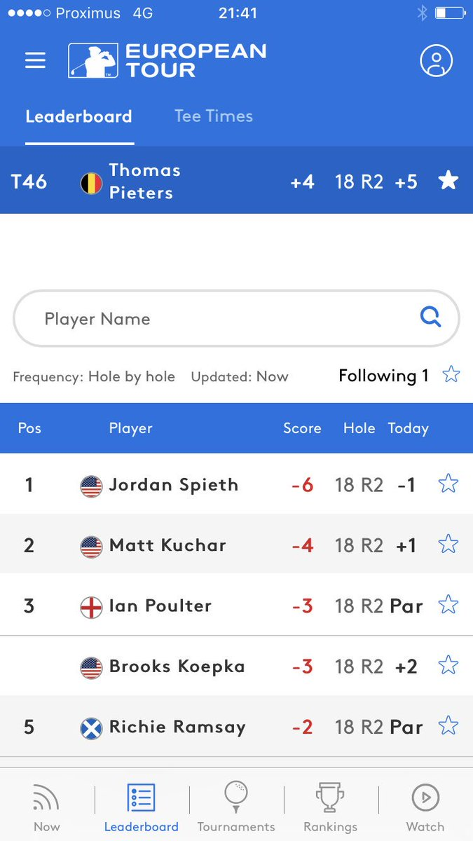 Op <strong>@TheOpen</strong> valt <strong>@Thomas_Pieters</strong> terug naar T46. #morgenbirdietime #gothomas https://t.co/2d4yVTRJhq