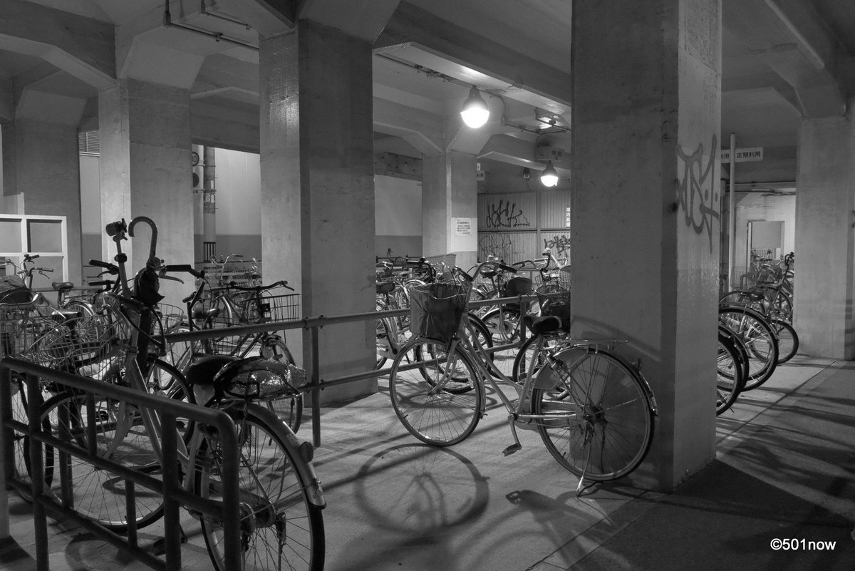 『自転車置き場』#写真撮ってる人と繋がりたい#写真好きな人と繋がりたい#ファインダー越しの私の世界#写真 #カメラ #モ