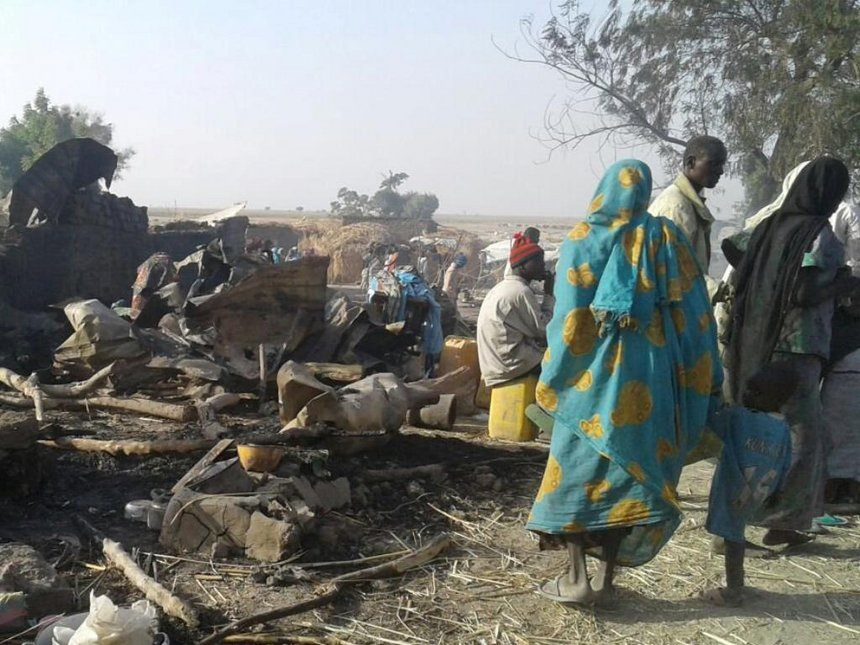 Nigerian refugee camp hit by air strike was not marked on maps - military