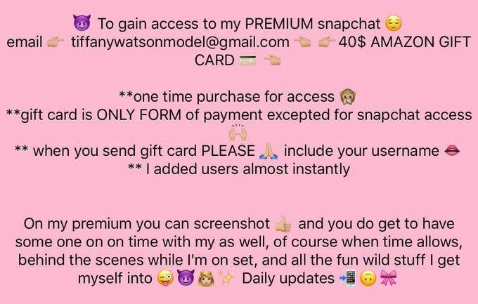 Premium Snapchat 💃🏼🙈😈 https://t.co/zFQT5O0gU2