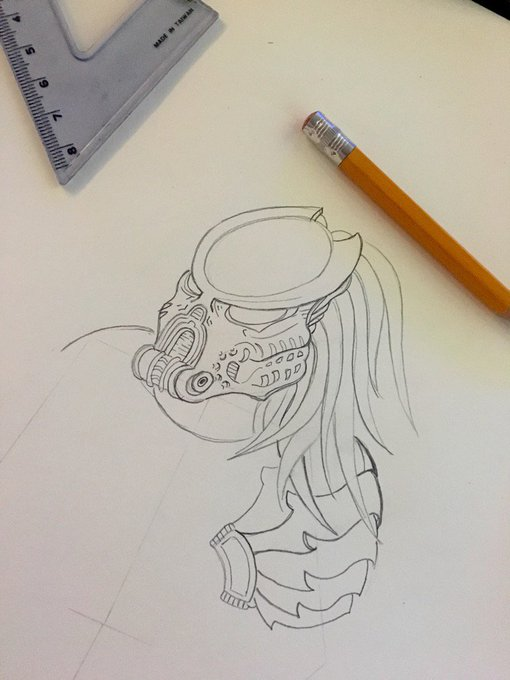 👾 Predator doodle time 👉MadisonIvySnaps https://t.co/iZC87li0AH