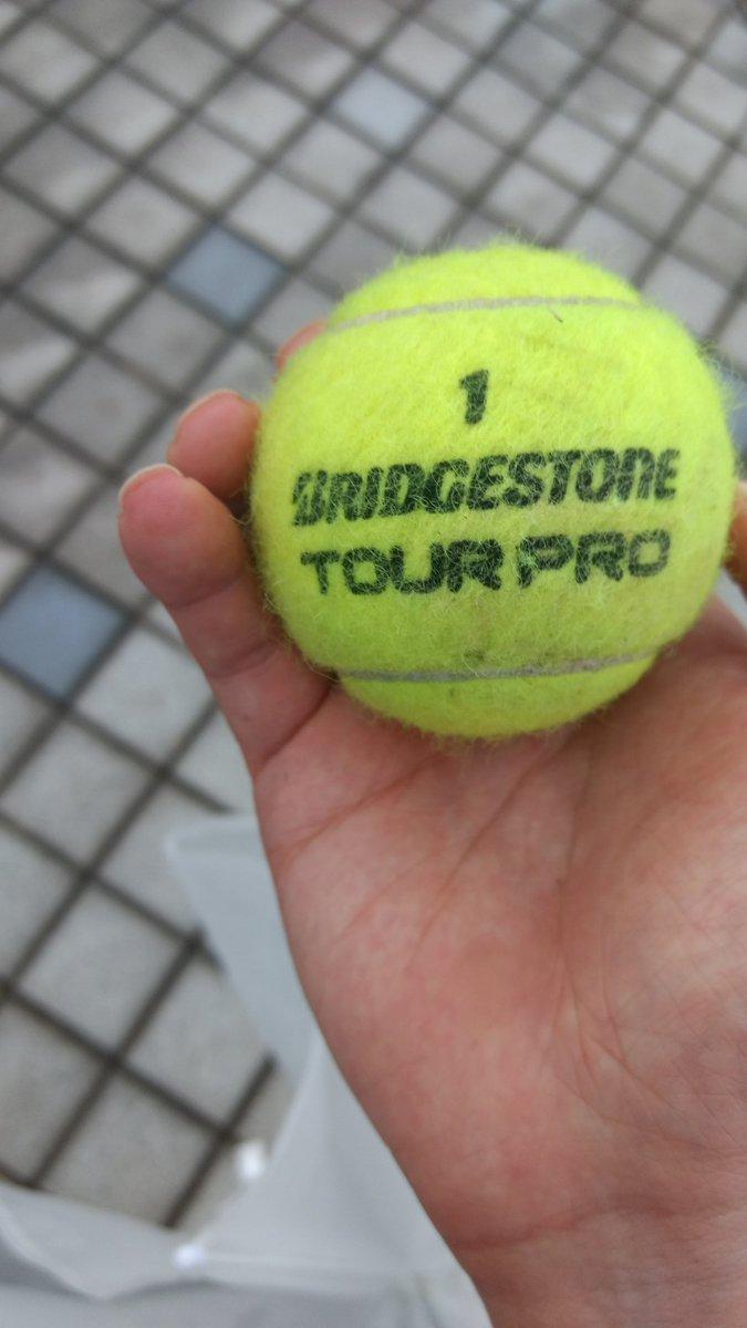 テニスボール拾った。ベイビーステップ俺もしちゃうか