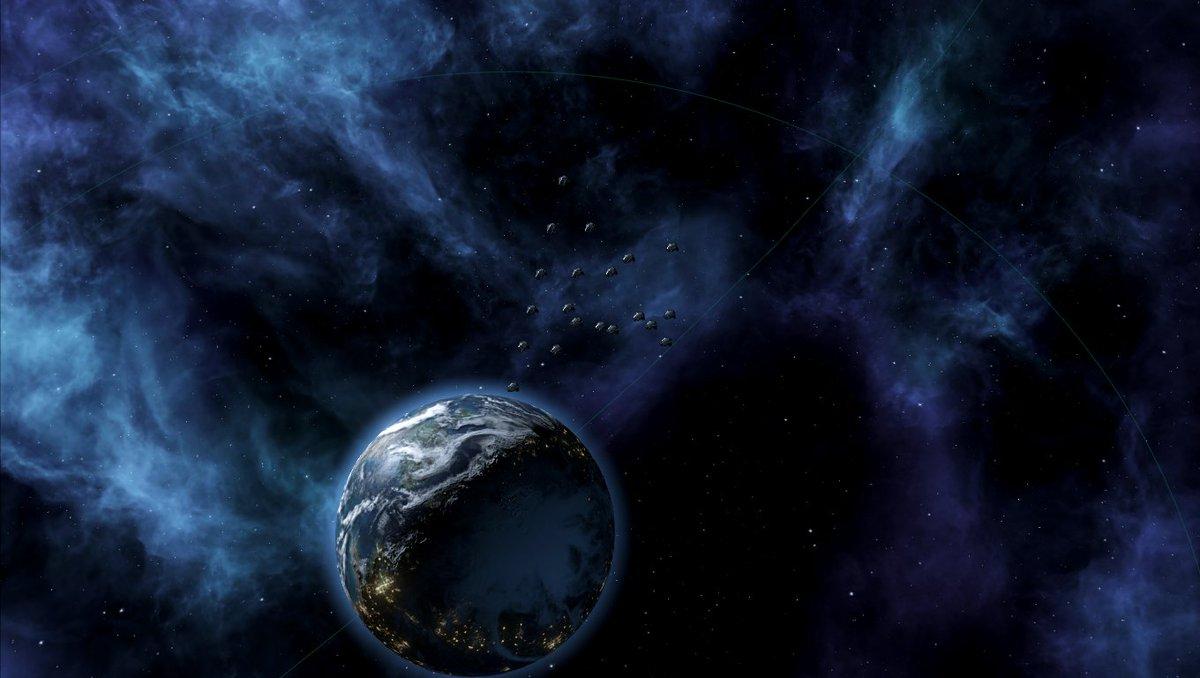 Stellaris侵略編:星を占領する時は、戦闘員を降下させて現地の住民を制圧します。完全にドラゴンボールのアレ( つ∀