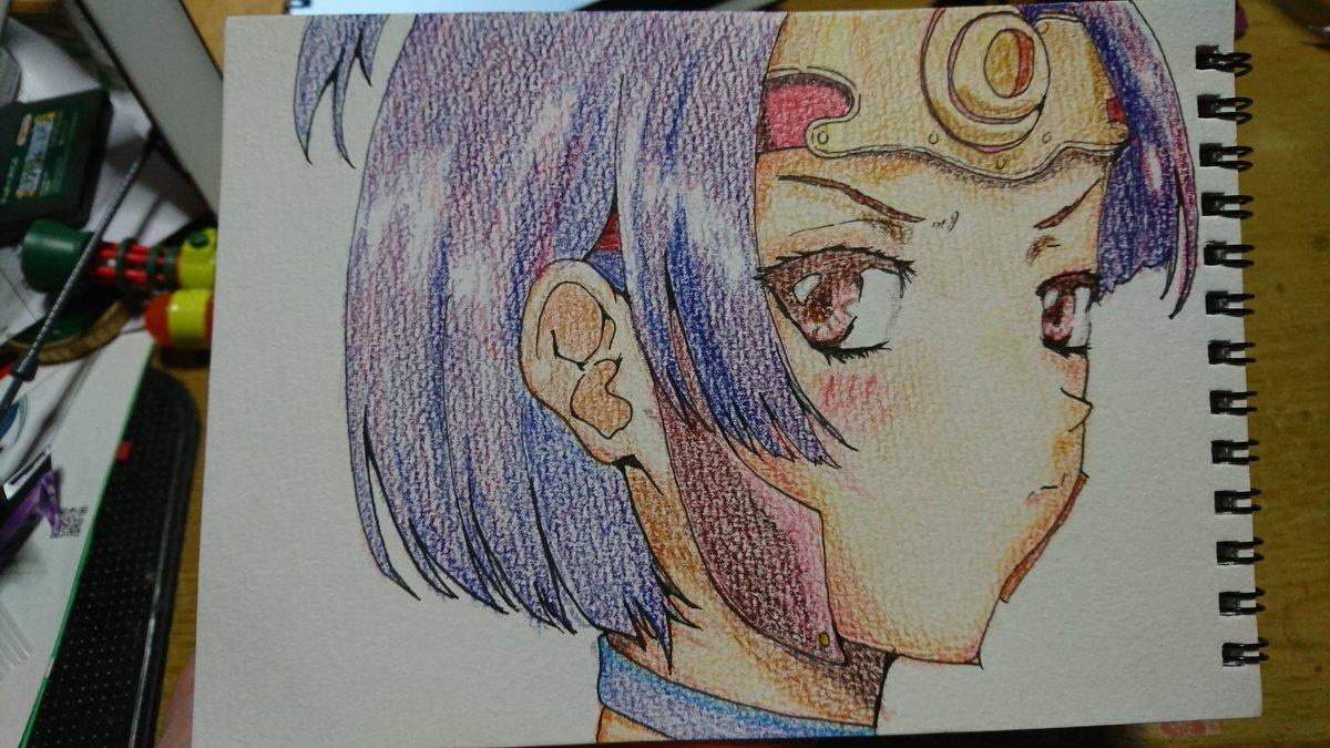 甲鉄城のカバネリ ヒロイン 無名ちゃん描いてみました。色塗りヘタクソで、すいません