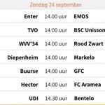 #WVV34 start de competitie op zondag 24 sept tegen @VVRoodZwart  ... #Hengevelde https://t.co/fKrBhsS8Sb
