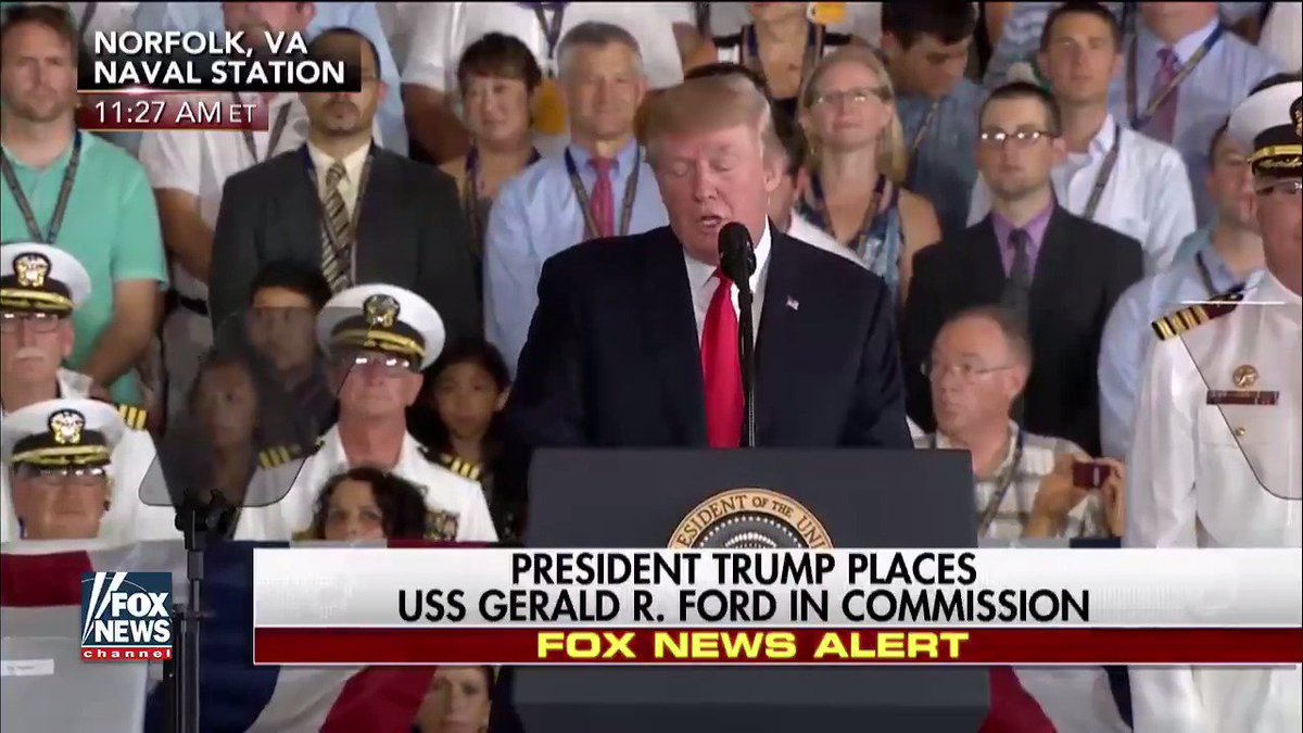RT @FoxNews: .@POTUS places #USSGeraldRFord in commission. https://t.co/IaIkM6Bh9k #ProudAmerican https://t.co/Rn2ai4wwiI