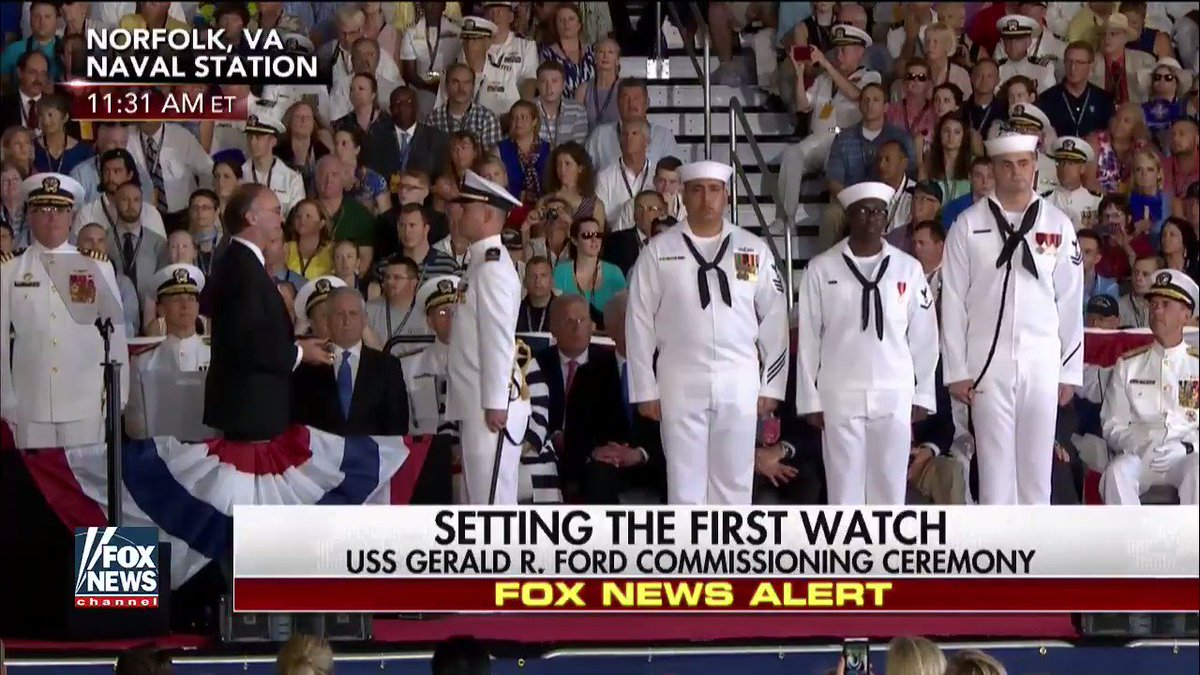 RT @FoxNews: Setting the First Watch. #USSGeraldRFord #ProudAmerican https://t.co/IaIkM6Bh9k https://t.co/KsZVMc8wxK