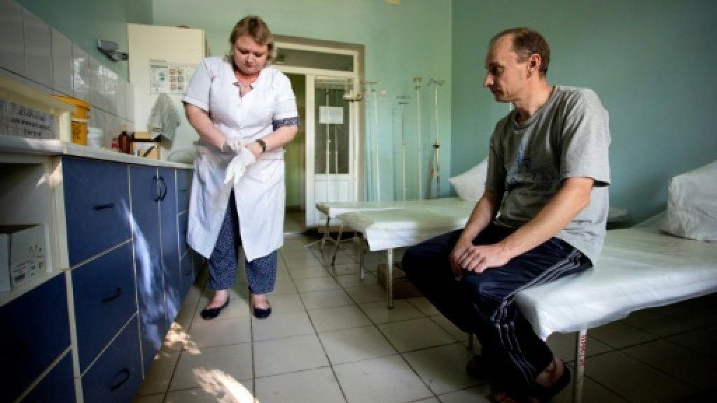In rebel-held Ukraine, activists struggle to stem HIV spread