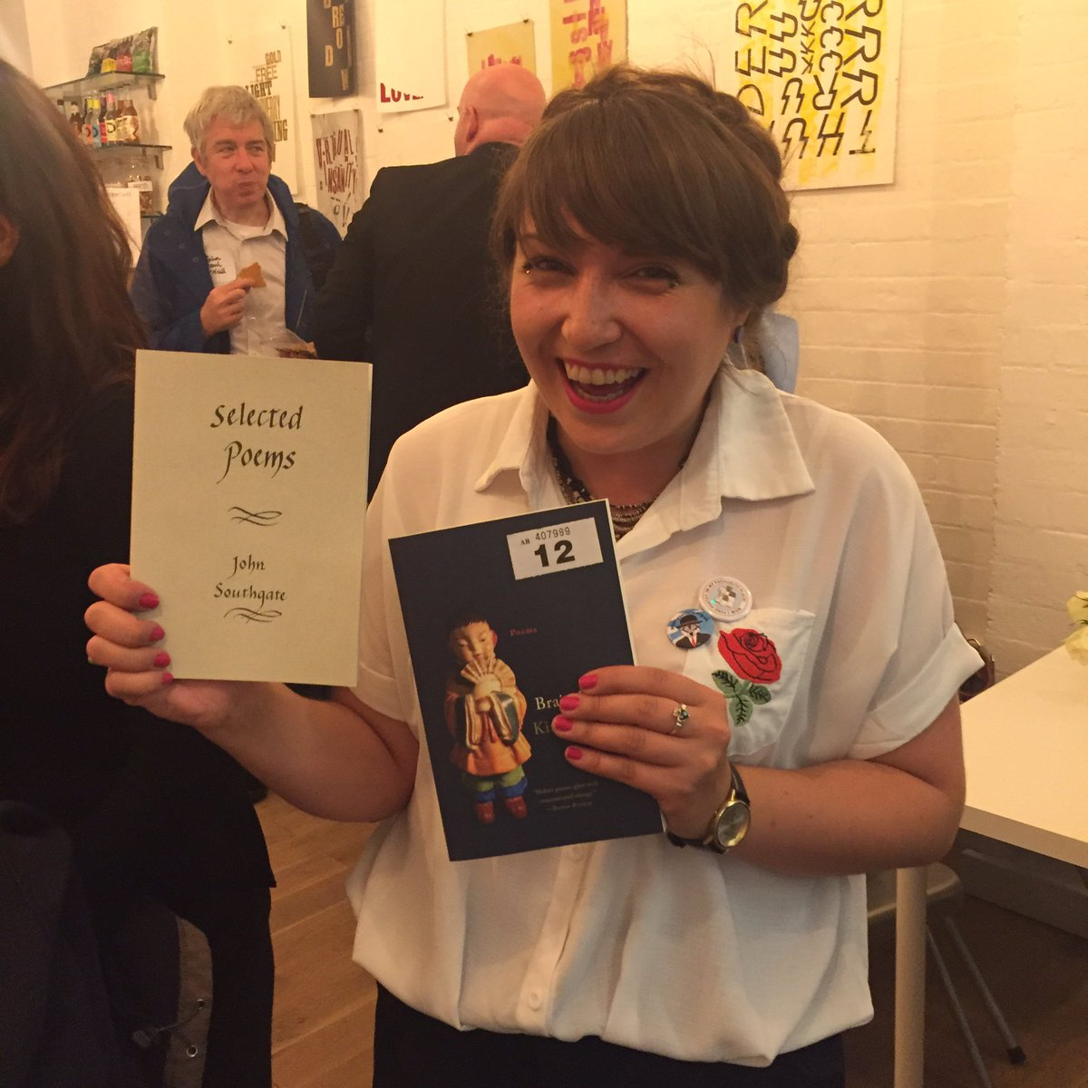 test Twitter Media - RT @WasThatThunder: Excitement on the @PoetrySociety tombola with @LaurieBolger https://t.co/jWFgVvBOwb