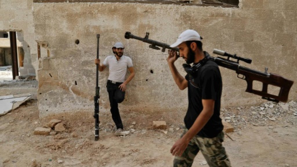 Syria army announces halt in fighting in parts of Ghouta