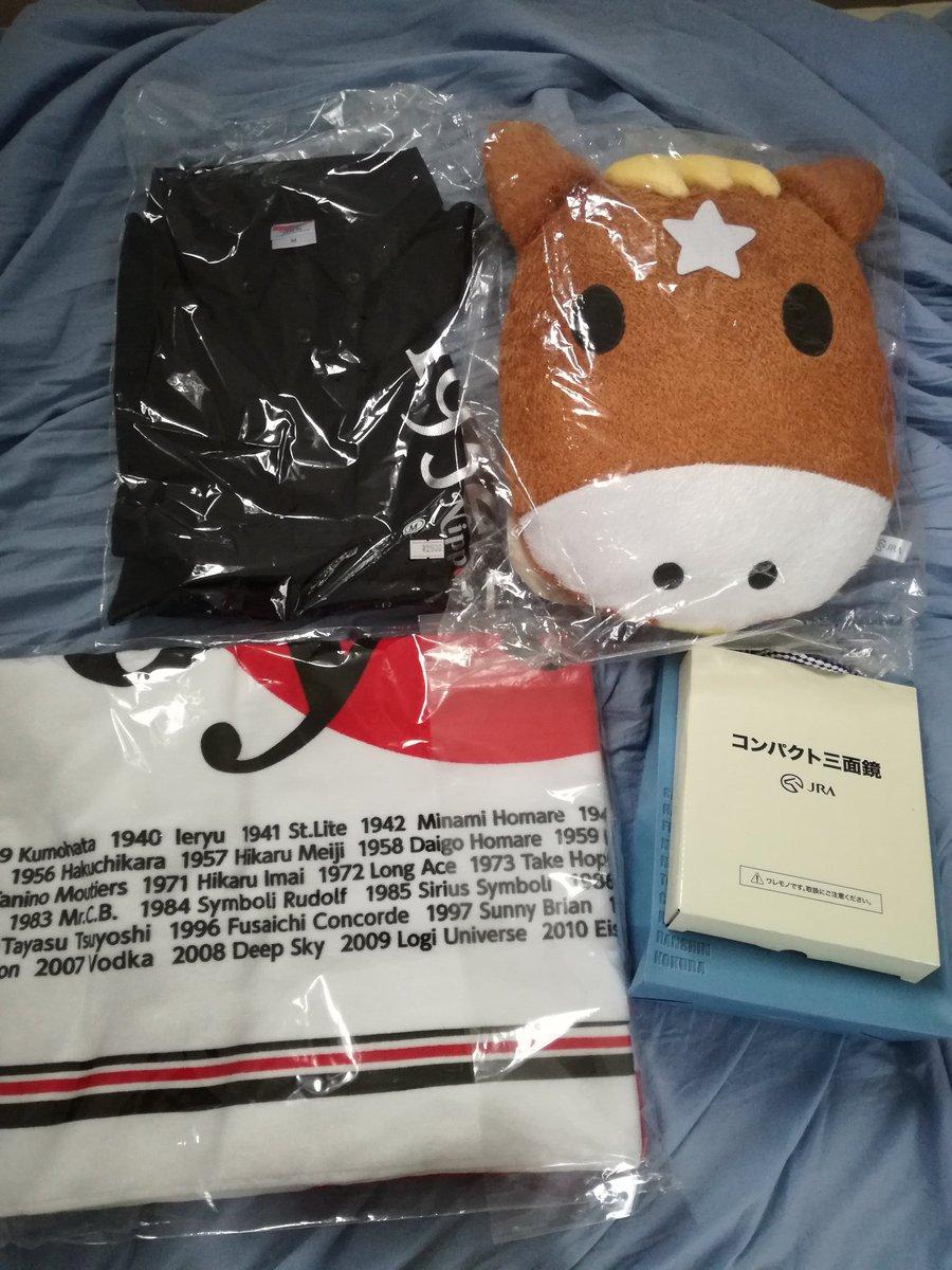 昨日WINS渋谷ターフィーショップ出張所で買ったものクッションが800円ポロシャツが1250円(最近のミルキィホームズの