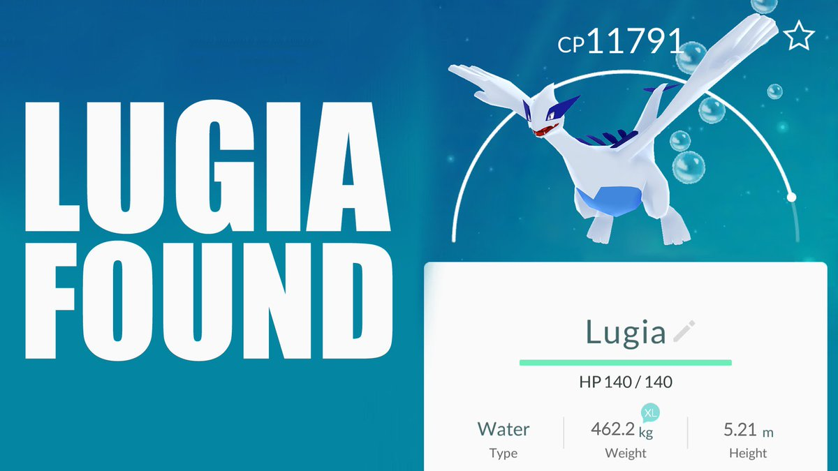 tweet-Lugia can now be encountered by Pokemon GO Fest players. Both it and Articuno are coming to raid battles worldwide within the next 48 hours! https://t.co/nl6FkayYUg