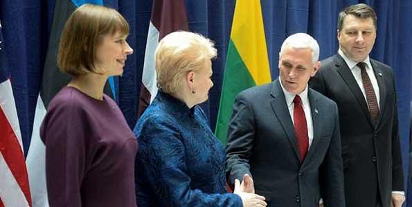 Pence in Estonia to ease Russia fears in Baltic region