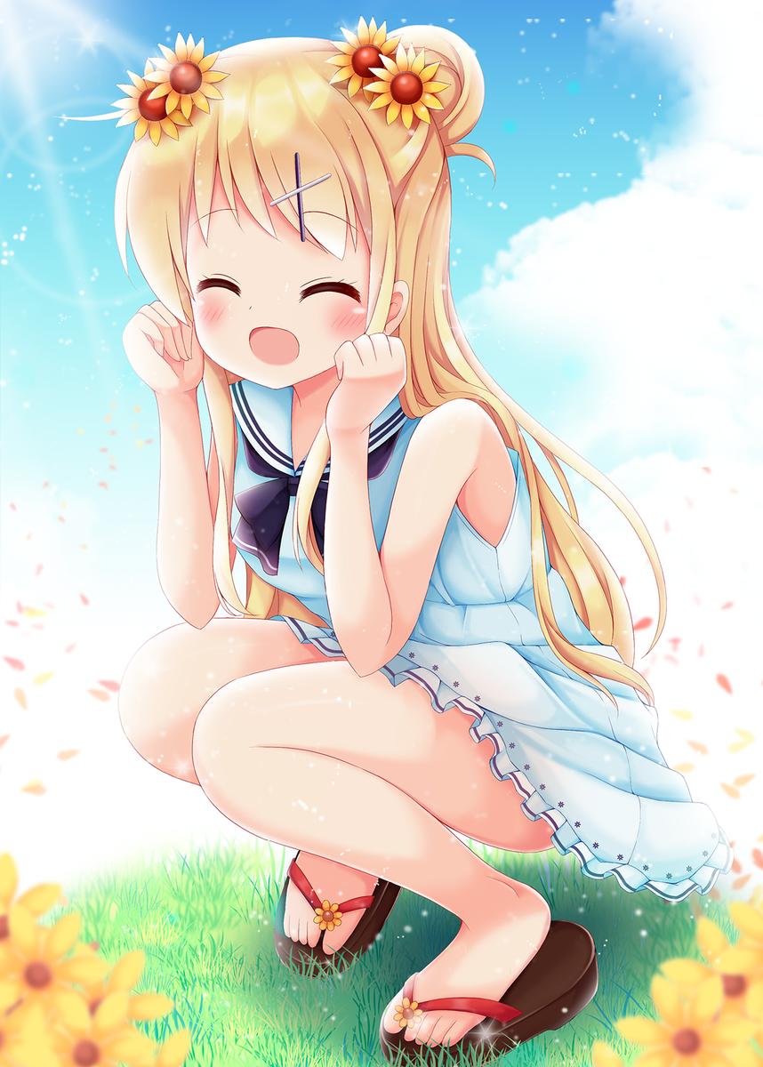 『夏もいい季節デース!!』今年カレンちゃん41枚目は、笑顔の九条カレンちゃん♪#90の九条カレンちゃん#kinmosa