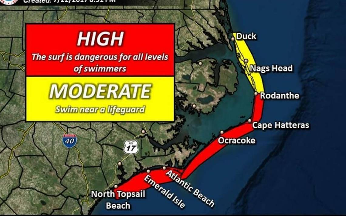 'Potentially very dangerous heat event,' and high rip current risk in North Carolina