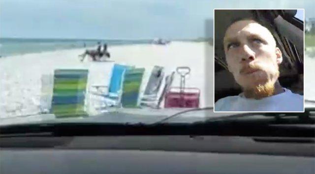 'Crash Parade!' Man Films Himself Mowing Down Beach Chairs, Cooler During FloridaPursuit