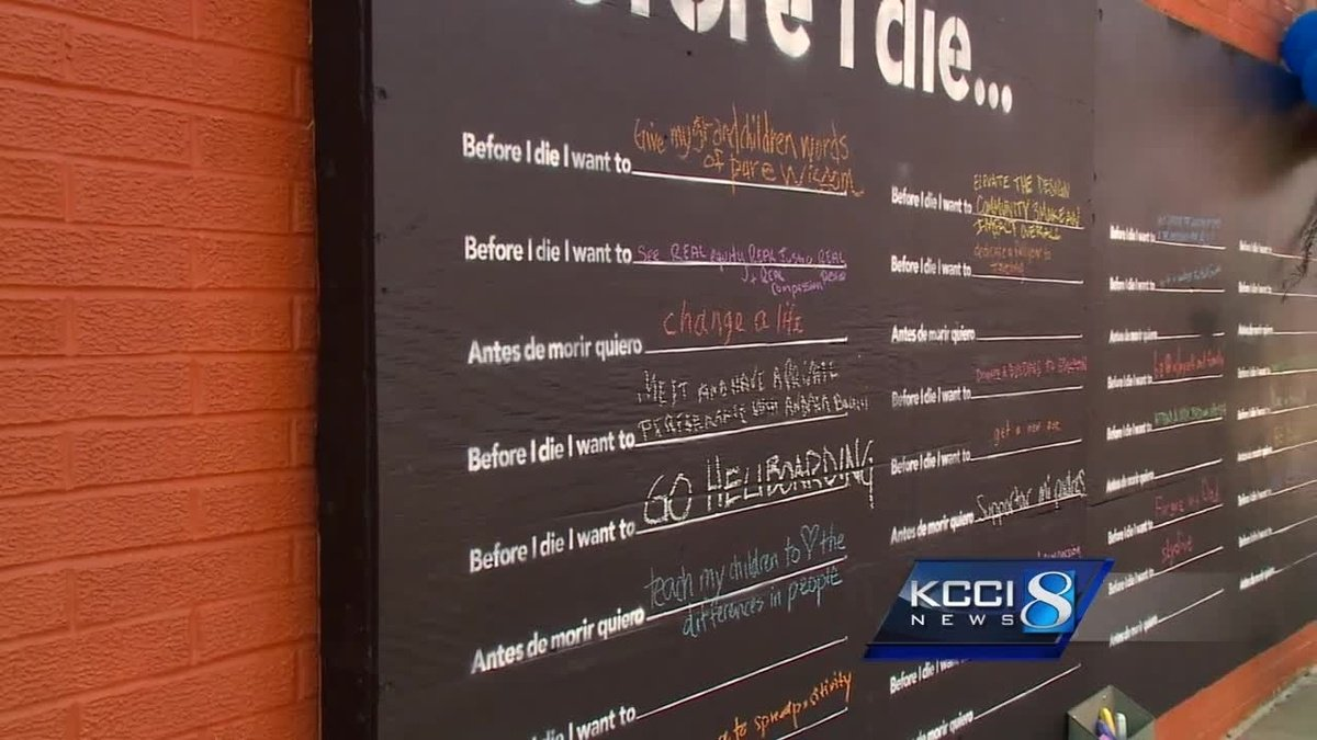 Interactive art wall gives you a chance to share bucket list