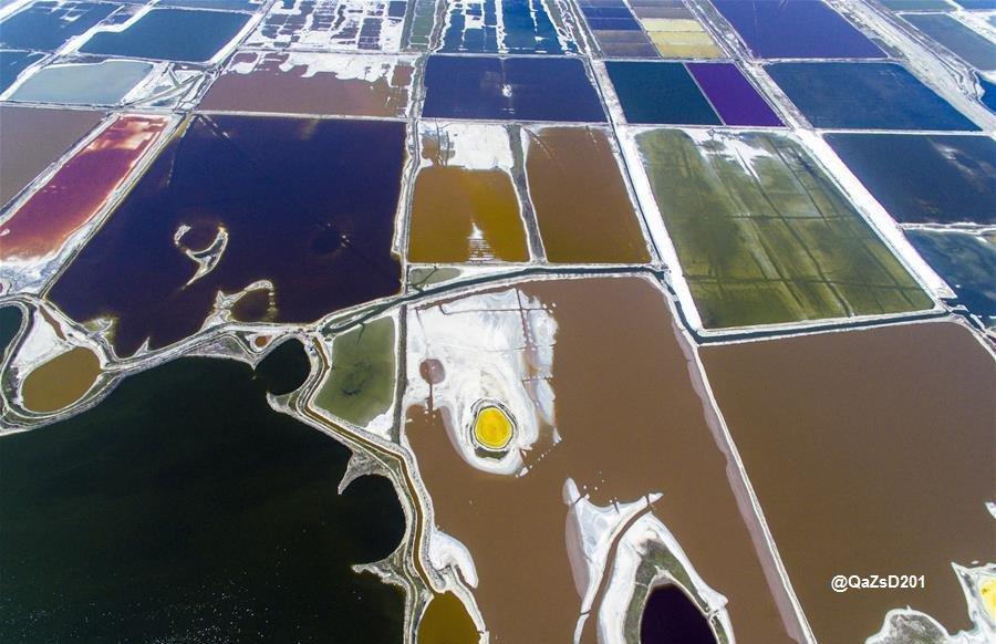لبحيرة الملحية الملونة مقاطعة #شانشي