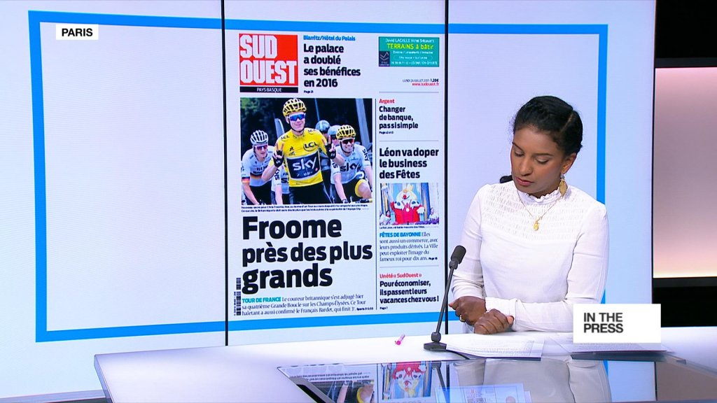 IN THE PAPERS - Chris Froome 'almost' among the greats with fourth Tour de France win