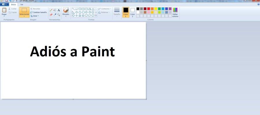 Paint desaparecerá después de  paint