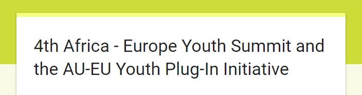 test Twitter Media - Bearing in mind #Jobs4YouthAfrica conference conclusions: African youth: Apply for the African-Europe Youth Summit! https://t.co/NebOdj2FbC https://t.co/kS3TKCFj2l