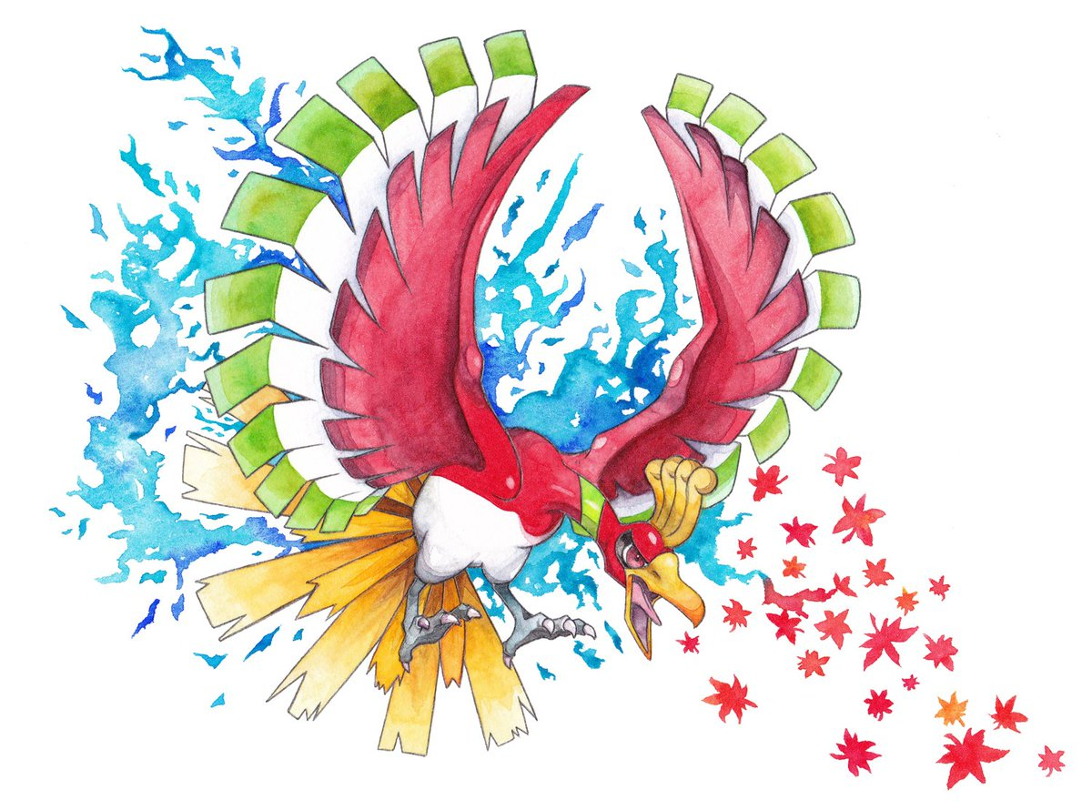 ポケモンGOでルギアが出た事によるツイートをした後、ふと ルギア前に描いたな~ から、あれ、ホウオウもこの間描いたぞ!?
