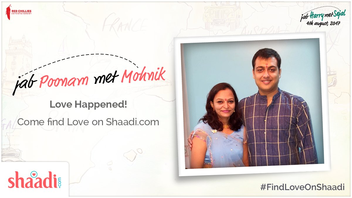 test Twitter Media - Meet the adorable @ShaadiDotCom Success Story couple: Mohnik & Poonam! :)  #FindLoveOnShaadi #JHMS4Aug https://t.co/rC5Em9x1iF