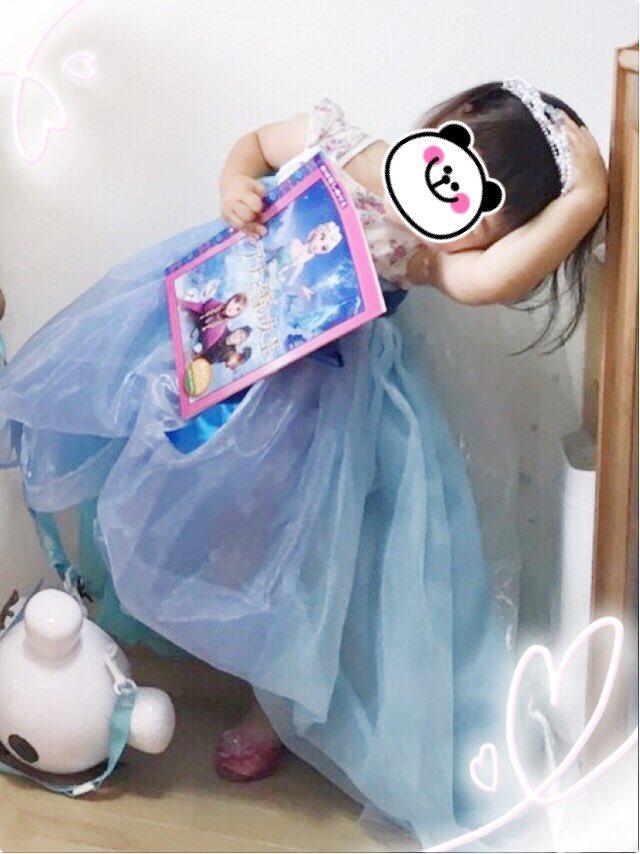 はじめましての姪っ子💕先月末に3歳のお誕生日を迎えました(*˘︶˘*).。.:*♡ラピュタのシータはもちろん、最近はアナ