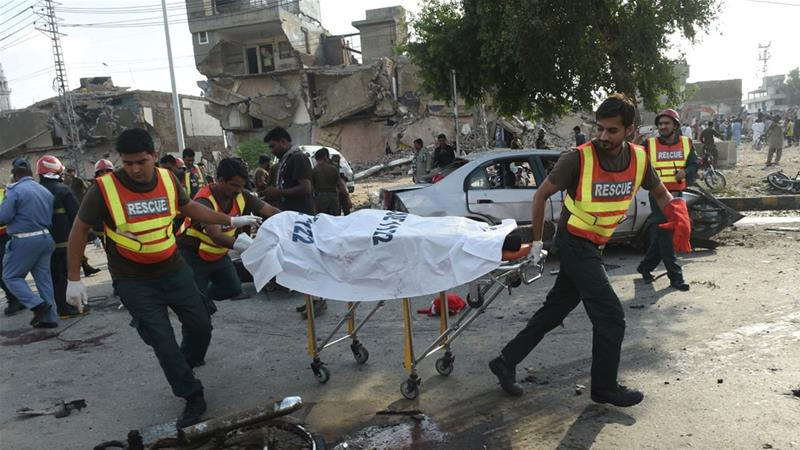 UPDATE: At least 25 killed and 52 others wounded in an explosion in Lahore, Pakistan