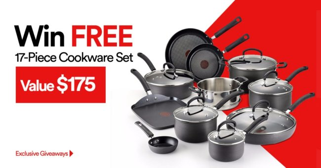 Win Cookware Set Giveaway July 2017