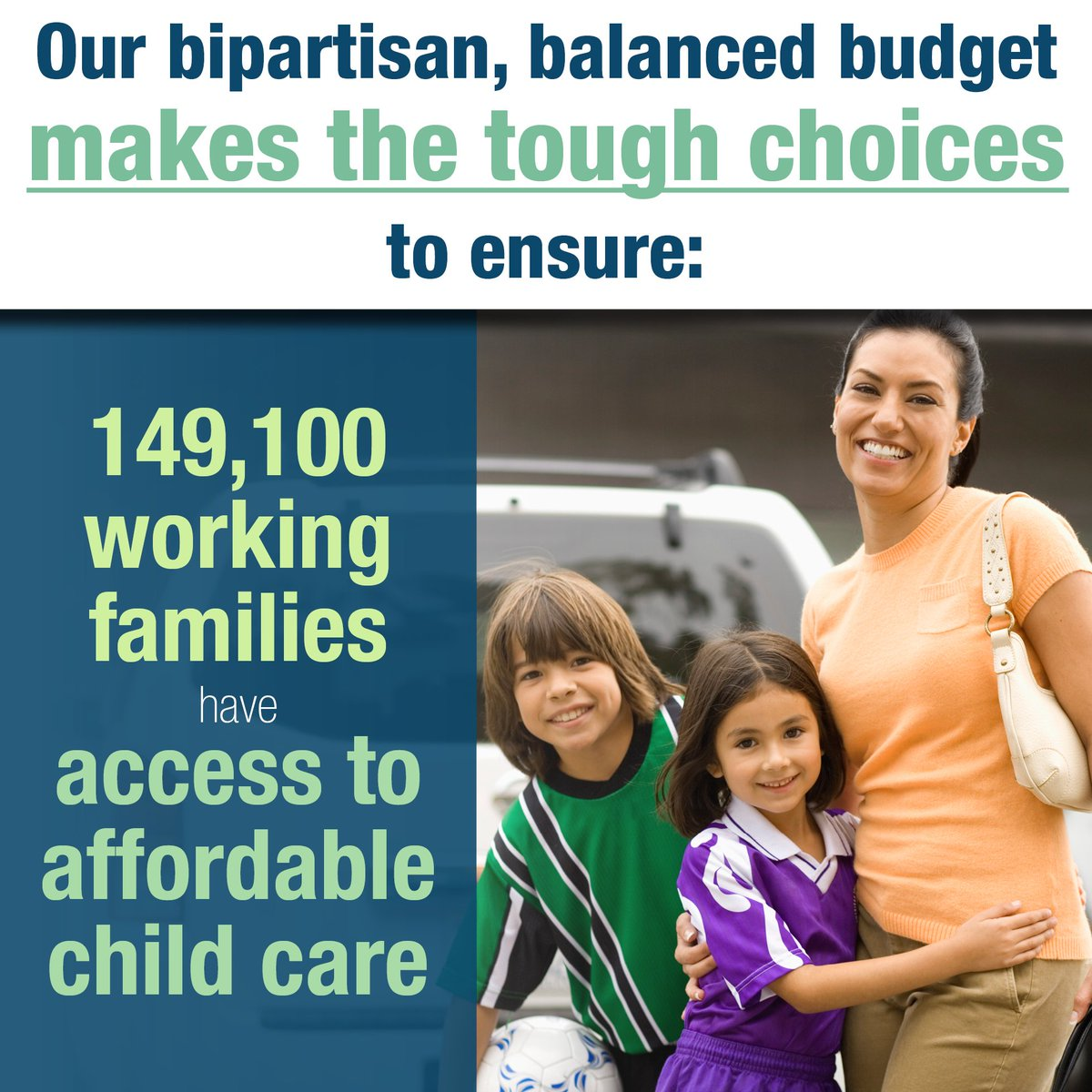 test Twitter Media - We did our jobs and enacted a bipartisan, balanced budget to ensure working families have access to affordable child care. #twill https://t.co/YecaS6kP8n