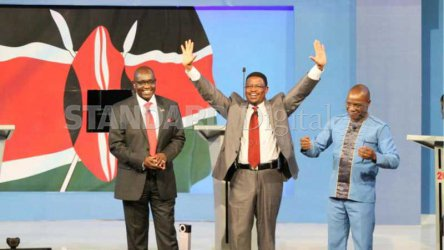 Corruption, negative ethnicity dominate first phase of presidential candidates' debate