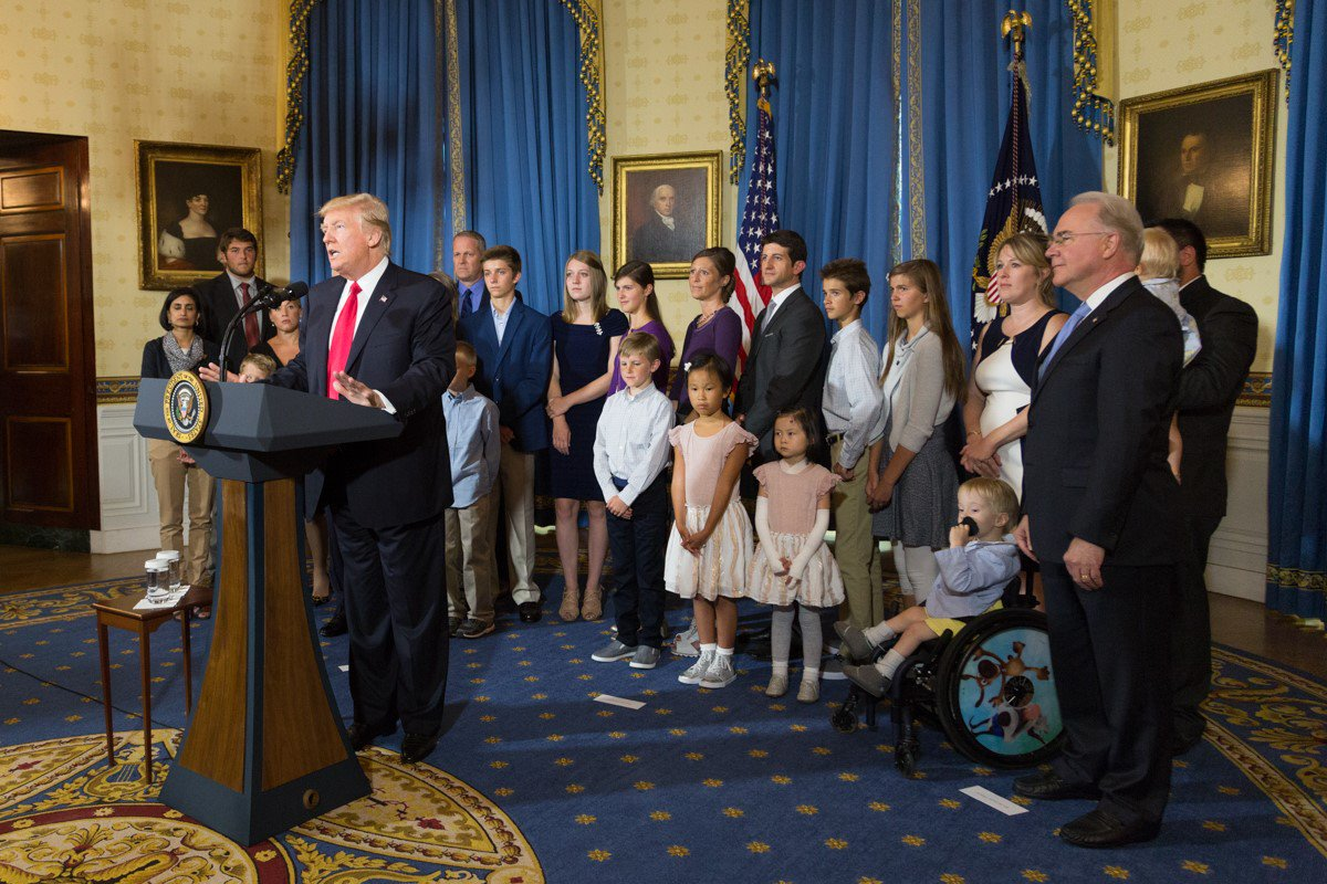 Earlier today, President Trump met with families adversely affected by #Obamacare
