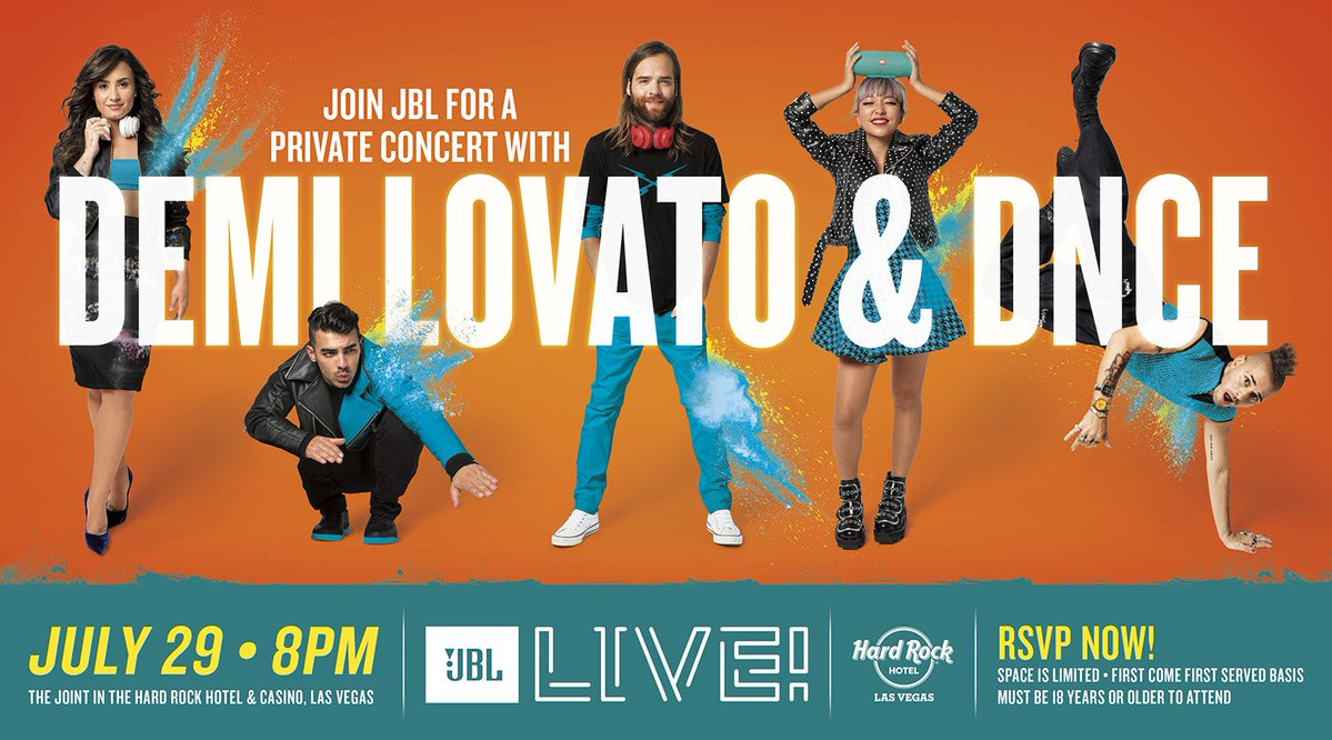 See you Saturday Vegas!! @DNCE and I are performing andddd @JBLaudio has your tickets ���� https://t.co/cB8xVkxoZK https://t.co/6uXDG2mOBl