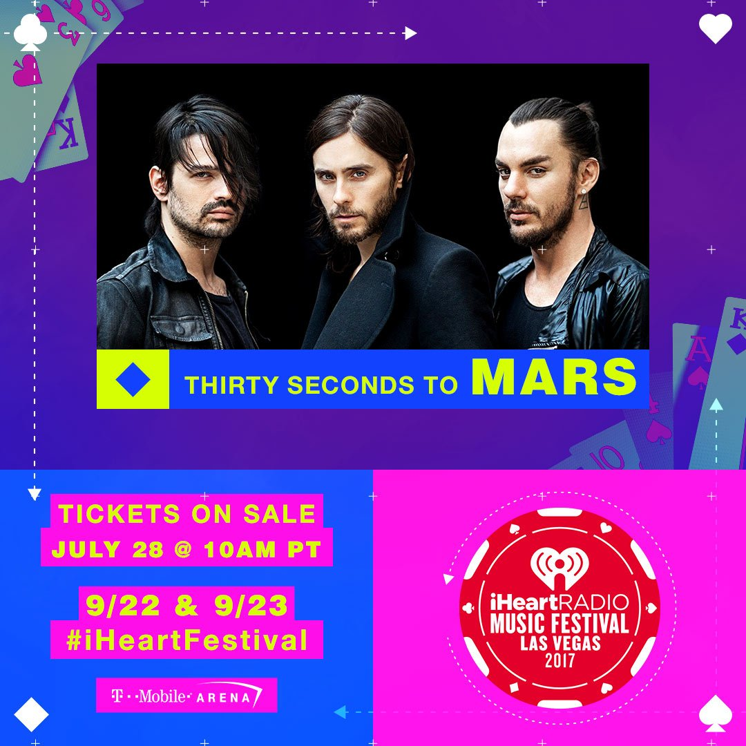 See you SEPT 22 at #iHeartFestival? ❤️ https://t.co/R8CEtb7oq0 @30SECONDSTOMARS https://t.co/KZJ288OfxW