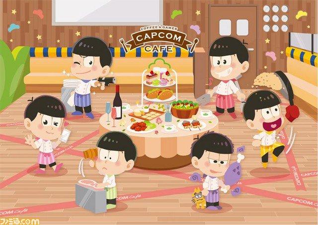 """""""カプコンカフェ"""" 8月10日からのメインテーマは『おそ松さん』! カプコンゲーム以外からは初の採用に"""