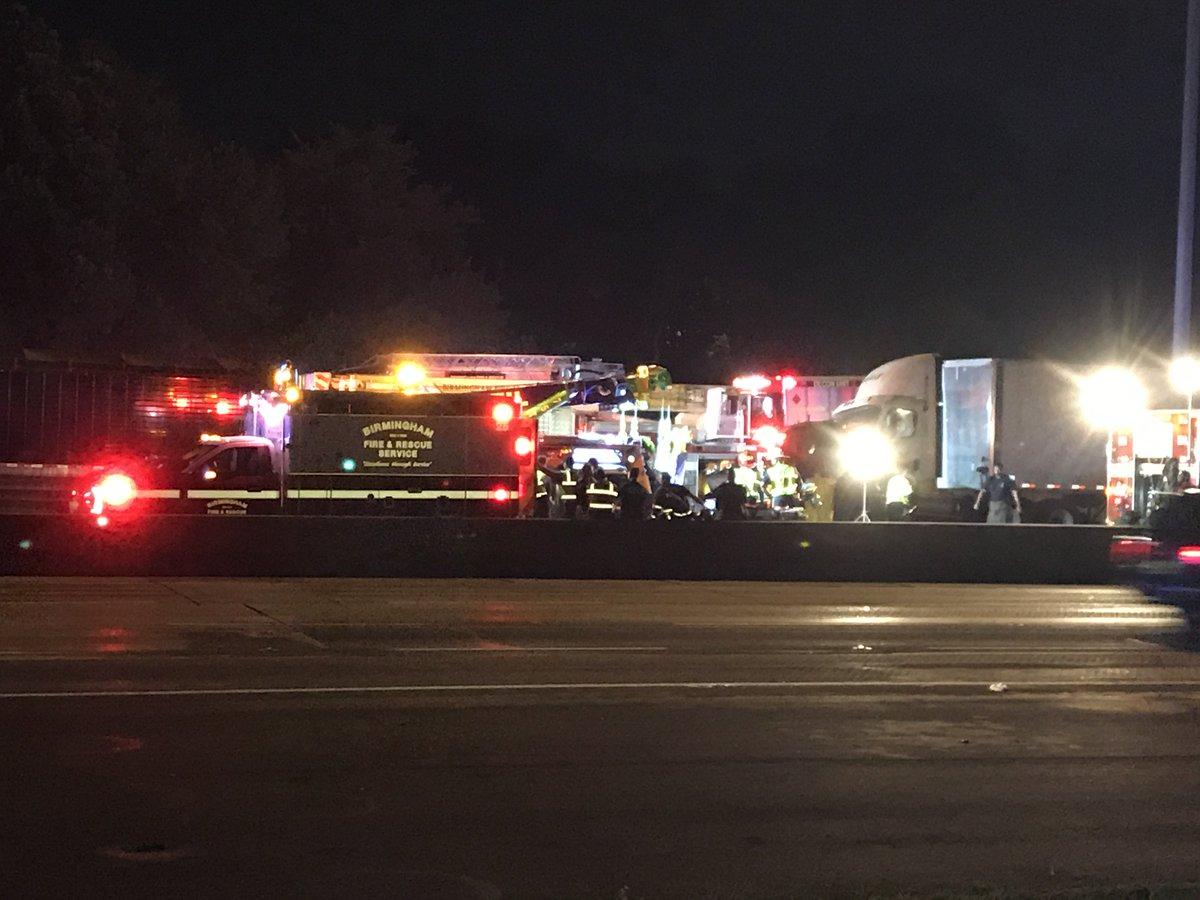 Three dead following 18-wheeler crash on I-65 South at 16th Street