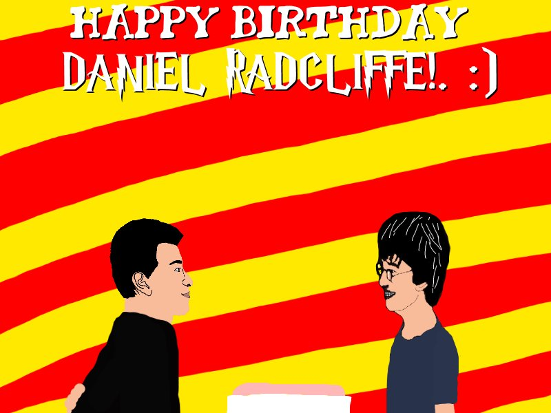 Happy (Late) Birthday Harry Potter (Daniel Radcliffe)!. :)