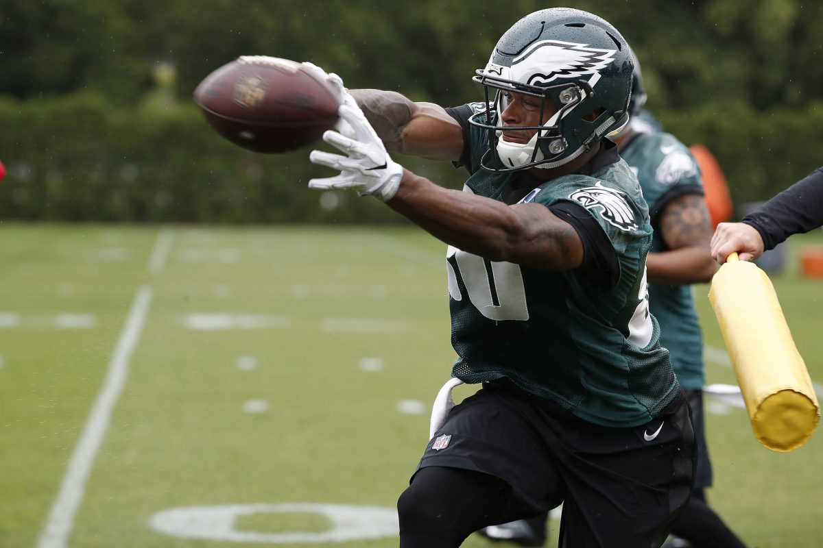 Eagles rookie WR Shelton Gibson getting the hang of the offense