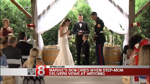4-year-old boy can't contain emotion during stepmom's heartfelt wedding vows