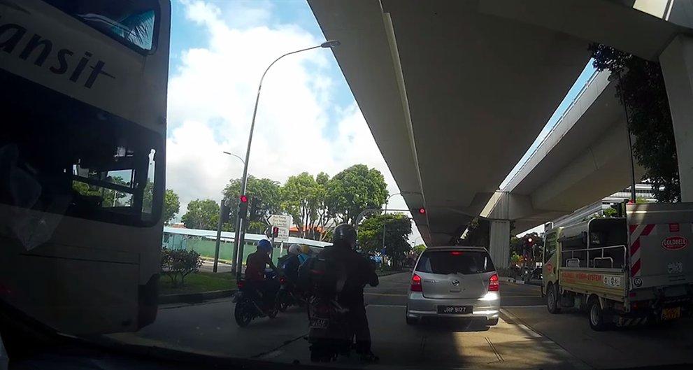3 injured after SBS Transit bus ploughs into motorcycles at Pasir Panjang
