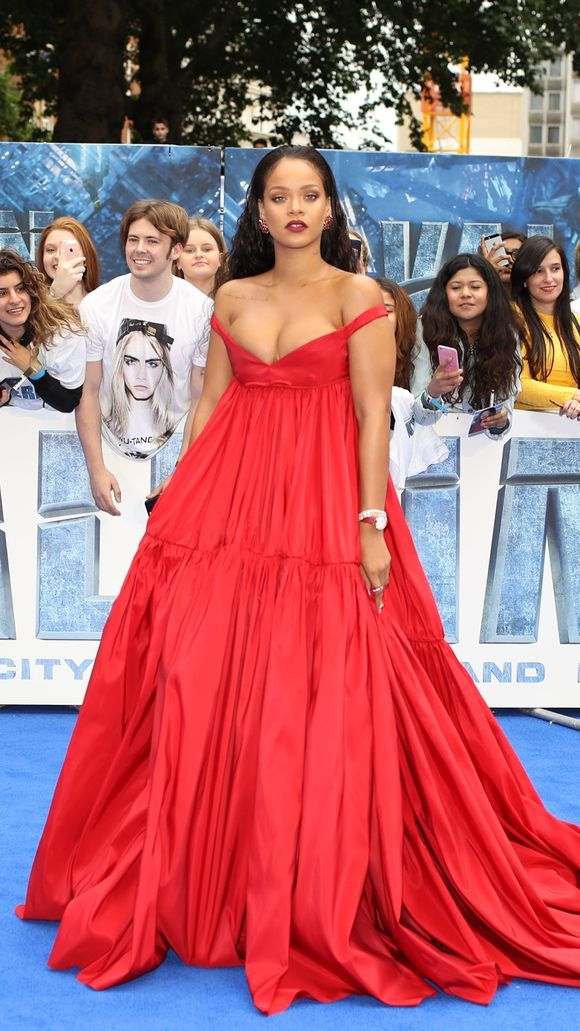 Rihanna is red-hot at the 'Valerian' premiere in London
