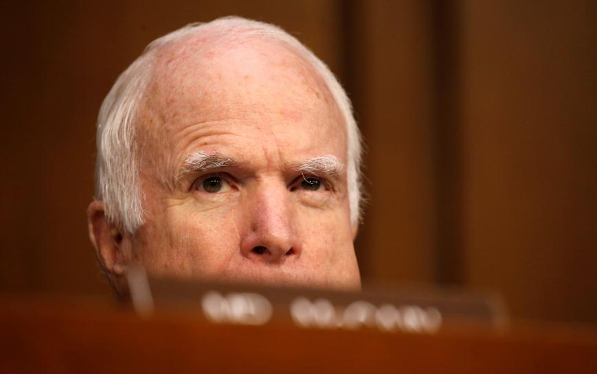 Republican Senator McCain will return Tuesday for healthcare vote