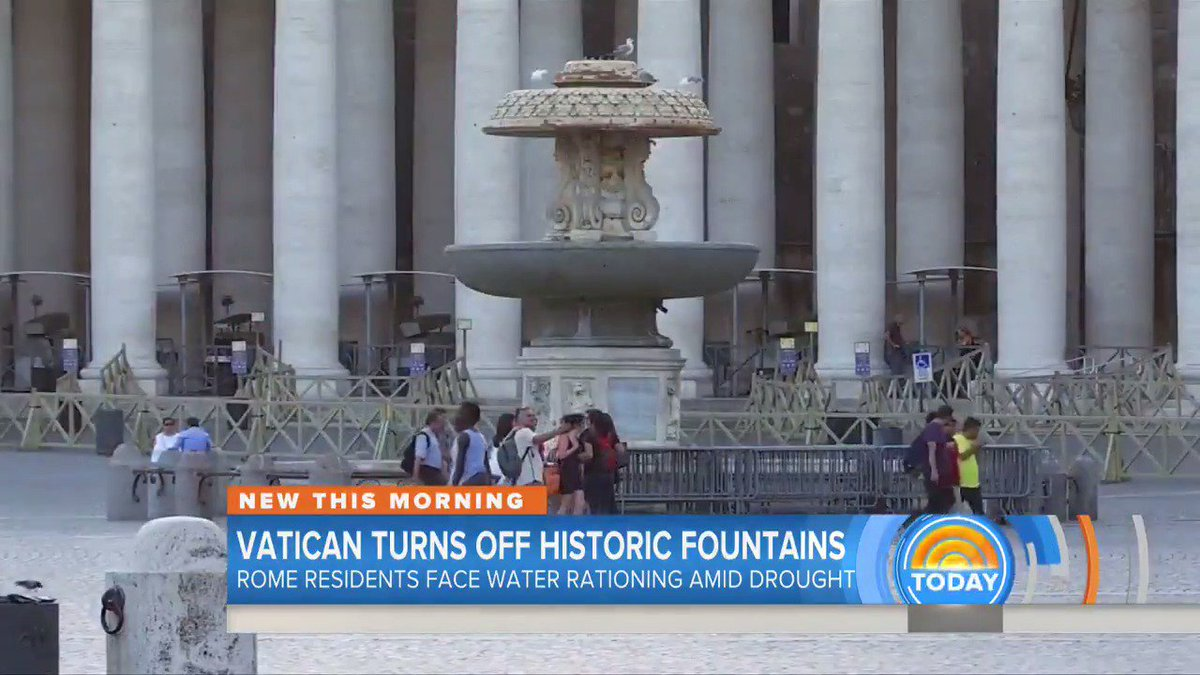 WATCH Vatican turns off 100 of its historic fountains because of Italy's drought