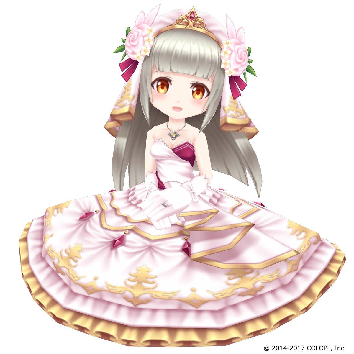 平日毎日神気解放!今日は「聖女と希望の風」のルウシェだにゃ(◍•ᴗ•◍) 花嫁姿がかわいいにゃ(´ω`*)#白猫