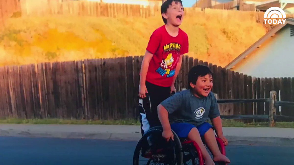 WATCH 8-year-old boy raises money to buy his bestie a new wheelchair