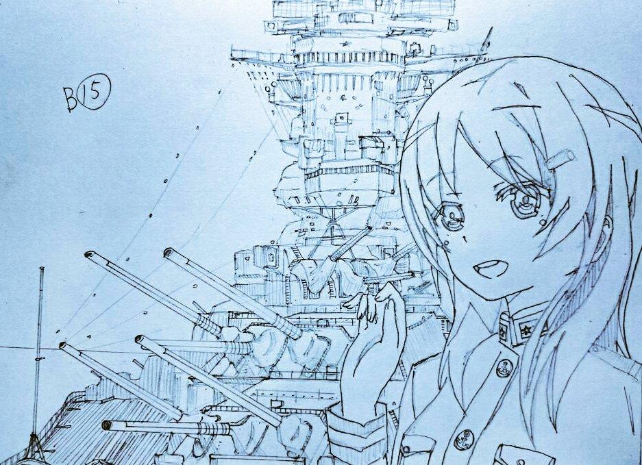 ペイントしたやつどっかいってしまってこれしかない。#知名もえか生誕祭2017 #知名もえか生誕祭 #はいふり #戦艦武蔵