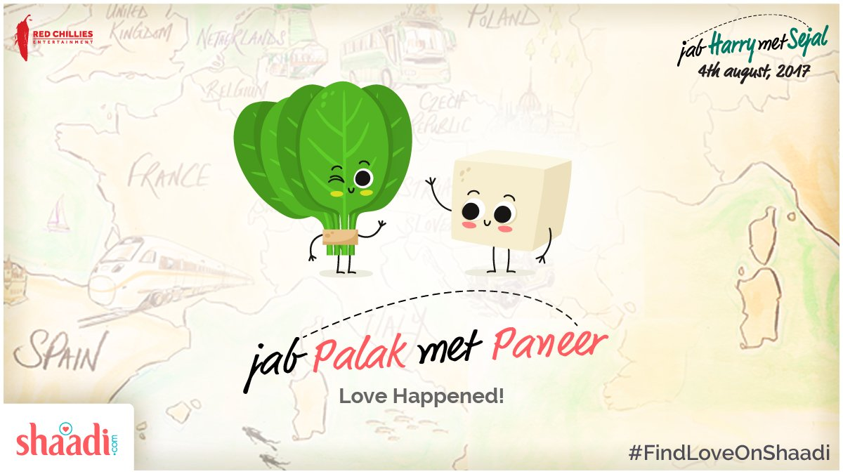 test Twitter Media - Jab Palak Met Paneer, Love happened! 😌💞  #JHMS #FindLoveOnShaadi @iamsrk @AnushkaSharma @RedChilliesEnt https://t.co/itcH8JvXFo